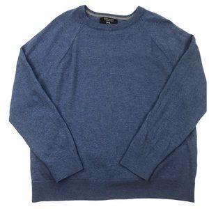 Banana Republic Blue Merino Yarn V Neck Sweater